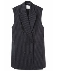 3.1 Phillip Lim - Black Oversized Layered Vest - Lyst