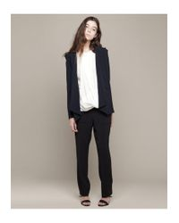 Vanessa Bruno - Blue Crepe Blazer W/ Shoulder Pleats - Lyst