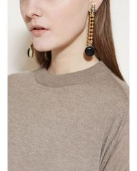Marni - Black Earrings With Strass - Lyst