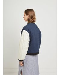 Étoile Isabel Marant - Blue Hanae Quilted Jacket - Lyst