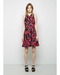Proenza Schouler | Red Printed A-line Dress | Lyst
