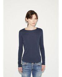 Organic By John Patrick | Blue Long Sleeve Shirttail | Lyst