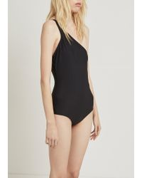 Acne - Black Karmo Solid One Piece Swimsuit - Lyst