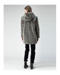 A.P.C. - Gray Fur Duffel Coat - Lyst