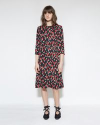 Marni | Black Printed Floral Dress | Lyst