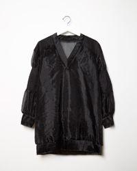 Sacai - Black Organza Lace Top - Lyst