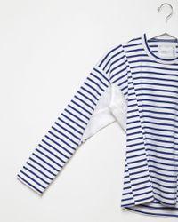 Sacai - Blue Asymmetrical Longsleeve Tee - Lyst