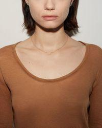 Satomi Kawakita - Metallic U-shaped Diamond Necklace - Lyst
