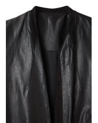 Helmut Lang - Black Wax Leather Blazer - Lyst