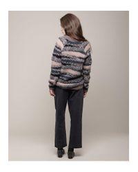 Vanessa Bruno Athé - Multicolor Scoop Neck Mohair Sweater - Lyst