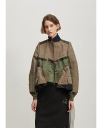 Sacai - Natural Glencheck Blouson Jacket - Lyst