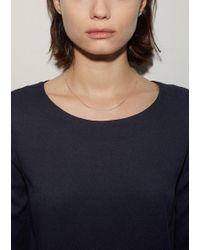 Saskia Diez - Metallic Fine Necklace Cubic - Lyst