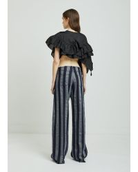 Marques'Almeida - Blue Stripe Boyfriend Trousers - Lyst