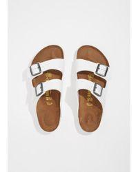 Birkenstock - Multicolor Strappy Camper Sandal In White - Narrow - Lyst