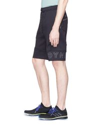 Dyne - Blue 'renzo' Reflective Logo Print Performance Shorts for Men - Lyst