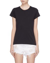 Rag & Bone - Black 'the Tee' Pima Cotton Slub Jersey T-shirt - Lyst
