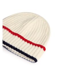 Maison Kitsuné - White Baby Alpaca Blend Knit Beanie - Lyst