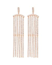 CZ by Kenneth Jay Lane - Metallic Cubic Zirconia Bar Link Drop Earrings - Lyst