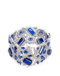 CZ by Kenneth Jay Lane - Blue Cubic Zirconia Openwork Bracelet - Lyst