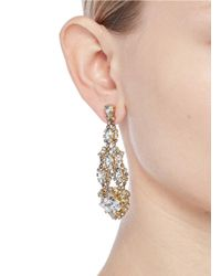 Erickson Beamon | Metallic Swarovski Crystal Chandelier Earrings | Lyst