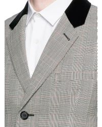 Alexander McQueen - Gray Glen Plaid Virgin Wool Coat for Men - Lyst