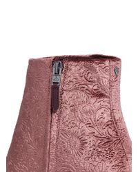 Sam Edelman - Pink 'taye' Floral Jacquard Velvet Ankle Boots - Lyst