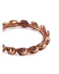 Delfina Delettrez - Metallic Diamond 18k Rose Gold Skull Ring - Lyst