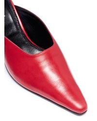 Dorateymur - Red Groupie Leather Mules - Lyst
