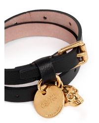 Alexander McQueen - Black Bracelet - Lyst
