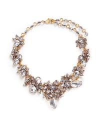 Erickson Beamon - White 'valley Of The Dolls' Swarovski Crystal Cluster Necklace - Lyst