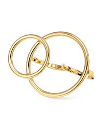 Joomi Lim - Metallic 'mix Master' Interlocking Hoop Two Finger Ring - Lyst