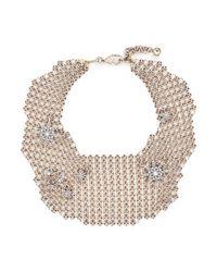 Lulu Frost - Metallic 'radiant' Glass Crystal Star Mesh Bib Choker - Lyst