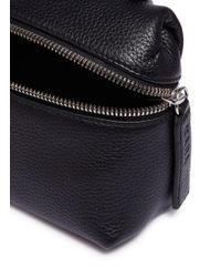 Kara - Black Pebbled Leather Micro Satchel - Lyst