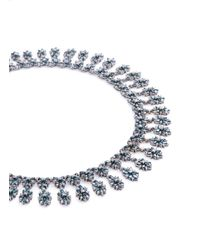 LC COLLECTION - Metallic Diamond 18k Gold Floral Necklace - Lyst