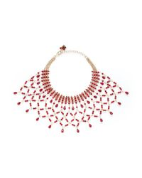 Rosantica - Red 'rete' Lattice Effect Bead Bib Necklace - Lyst