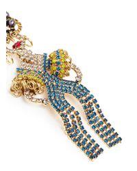Elizabeth Cole - Metallic 'chiquita' Swarovski Crystal Woman Drop Earrings - Lyst