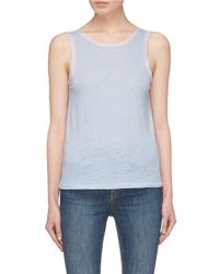 Rag & Bone - Blue 'payton' Colourblock Tank Top - Lyst