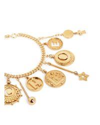 Chloé - Metallic 'coins' Logo Charm Bracelet - Lyst