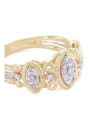 Buccellati - Metallic Diamond 18k Gold Marquise Ring - Lyst