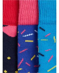 Happy Socks - Blue Singing Happy Birthday Gift Box 3-pack Set - Lyst