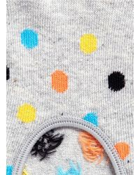 Happy Socks - Gray Dot Low Socks - Lyst