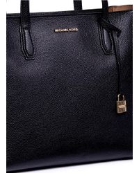 Michael Kors - Black 'mercer' Large Leather Tote - Lyst