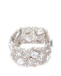 CZ by Kenneth Jay Lane - Metallic Cubic Zirconia Openwork Bracelet - Lyst
