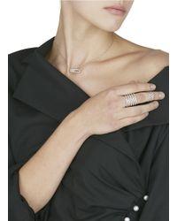 Messika - Metallic 'gatsby Double' Diamond 18k White Gold Chain Ring - Lyst