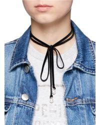 Joomi Lim - Black 'victorian Romance' Swarovski Pearl Wraparound Velvet Choker Necklace - Lyst