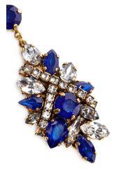 Erickson Beamon - Blue 'parlor Trick' Swarovski Crystal Cluster Drop Earrings - Lyst