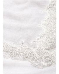 Faliero Sarti - White 'consuelo' Lace Border Modal-silk Scarf - Lyst