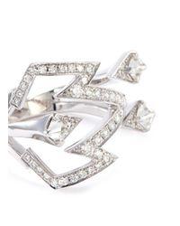 Stephen Webster - Metallic 'bolt' Diamond 18k White Gold Open Ring - Lyst