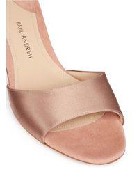 Paul Andrew - Multicolor 'arco' Swarovski Crystal Pavé Heel Satin Sandals - Lyst