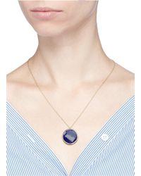 Astley Clarke - Metallic 'lapis Neptune' Diamond 14k Yellow Gold Pendant Necklace - Lyst